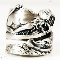Rare Art Nouveau Maid of the Mist Sterling Silver by Spoonier, $83.00