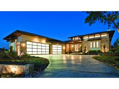 Floor Plan AFLFPW75737 is a beautiful 4237 square foot + Prairie  home design with 3 Garage Bays