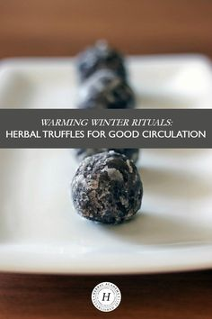 Warming Winter Rituals: Herbal Truffles for Good Circulation - Looking for ways to integrate more herbs into your diet? Try these delicious warming herbal truffles that are good for circulation, recipe included! Healing Herbs, Medicinal Herbs, Natural Healing, Herbal Plants, Herbal Teas, Natural Medicine, Herbal Medicine, Herbal Remedies, Home Remedies