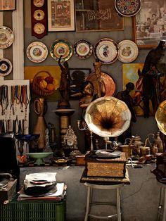 An antique store on Tellazade Sokak in Kadiköy, Istanbul, Turkey - photograph by Gentl & Hyers