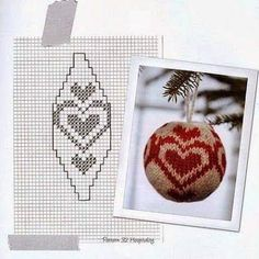 Knitting pattern for basic Christmas ball ornamentThis post may contain affiliate links. Knit Christmas Ornaments, Christmas Scents, Christmas Knitting, Christmas Toys, Christmas Stockings, Knitting Charts, Knitting Yarn, Knitting Patterns, Crochet Ball