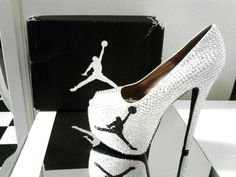 Sparkly Air Jordan Heels. No one knows how much I love these right here. They're perfect!! <3<3<3<3