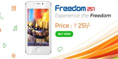 Ringing Bells has launched the Freedom 251. This becomes the cheapest smartphone in India with good specifications.Buy Freedom 251 Android Mobile at online.