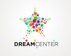 One shape makes main shape, One shape makes 2 other shapes.  Puzzle pattern logo design: Dream Center