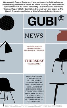 Three Days of Design in Copenhagen. Open House at @GUBI Thursday May 30th. Are you going? #allgoodthings #danish spotted by @missdesignsays