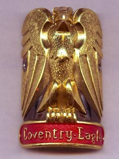 Coventry Eagle Bicycle Headbadge.