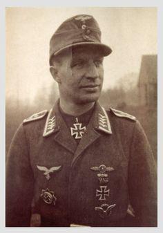 ✠ Ludwig Bellof (28 March 1916 - 2 October 1965) RK 28.01.1945 Oberfeldwebel Flugzeugführer i. d. 1./NSGr 3