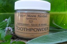 by SisterMoonHerbals Quick Teeth Whitening, Natural Teeth Whitening, Tooth Powder, 100 Pure Essential Oils, Organic Herbs, Peppermint, Sage, Herbalism, Healing