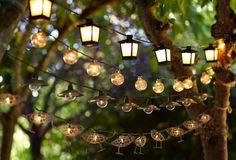 Outdoor string light options.