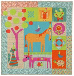 'Party Animals' quilt pattern by Sandy Gervais