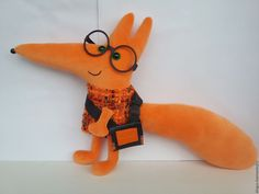Купить Лисенок - рыжий, оранжевый, лиса, лисичка, лисенок, мягкая игрушка, дингус, подарок, по фото