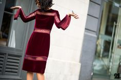 It's all about wine-red color for Fall 2014. // #StreetStyle #Fall
