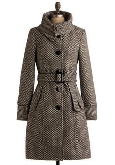 Yes, I have a wee obsession with coats these days.  But when it's cold, I still like to be stylish :)
