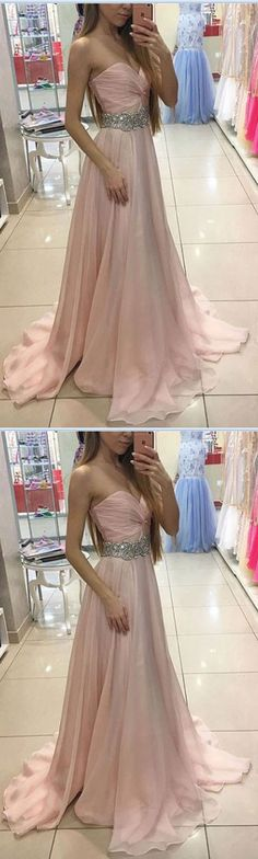 Hot Sales Prom Dresses,Blush Pink Prom Dresses,A Line Prom Dresses,Sweetheart Prom Dresses,Long Prom Dresses,Pink Graduation Dresses,Party Dress With Beaded Belt,Blush Pink Evening Dresses,Cheap Prom Gowns