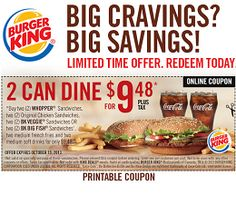 Fast Food Coupons Canada App
