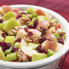 An apple Waldorf salad recipe that is packed with nutrients and is so refreshing.. Apple Waldorf Salad Recipe from Grandmothers Kitchen.