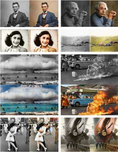 colorization of famous photos via thetruthisviral.tumblr.com