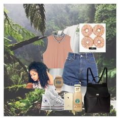 """""""Adventurous Spirit"""" by taylordena ❤ liked on Polyvore featuring Wet Seal, Dolce&Gabbana, Casio and Converse"""
