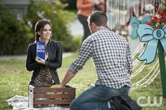 """Hart of Dixie -- """"Sparks Fly"""" -- Pictured (L-R): Rachel Bilson as Dr. Zoe Hart and Wilson Bethel as Wade -- Image Number: HA209a_ 0203b.jpg-- Photo: Eddy Chen/The CW -- © 2012 The CW Network, LLC. All rights reserved."""
