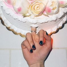 Eff this cake black nail polish middle finger Steam Punk, Comme Des Freres, Grunge, Thing 1, Kawaii, Shall We Date, All I Ever Wanted, Eat Cake, Creepy