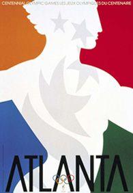 Poster de la Olimpiada Centenaria de Atlanta 1996