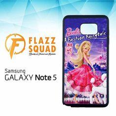 barbie a fashion fairytale L1080 Samsung Galaxy Note 5 Case
