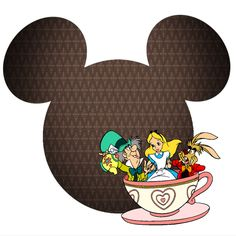 Alice in Wonderland- Tea party Disney Diy, Disney Cruise, Disney Stuff, Disney Scrapbook Pages, Scrapbooking, Disney Printables, Mickey Mouse Head, Color Copies, Alice In Wonderland Tea Party