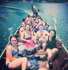 Enjoying the boat ride in #CheowLanLake at #KhaoSok National Park. #Travel #Adventure #Thailand #GrabYourDream #TravelAdventurer