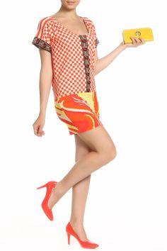 оранжевое платье с юбкой длины мини, свободного кроя, для лета, в клетку Cover Up, Mini, Dresses, Fashion, Gowns, Moda, Fashion Styles, Dress, Vestidos