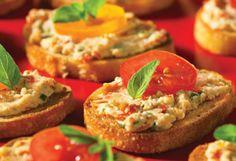 Goat Cheese and Sun-Dried Tomato Crostini Recipe.