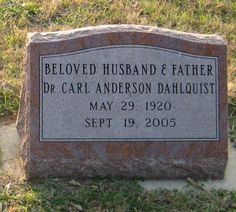 So Many Ancestors!: Tombstone Tuesday: Carl Anderson Dahlquist #genealogy