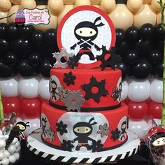 What an awesome cake at a ninja birthday party! See more party ideas at CatchMyParty.com!