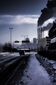 Early morning mist, Linköping