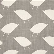 Bird Hop - Colour-Dormouse. Birds & Beasts collection, Vanessa Arbuthnott. Love her fabrics, just ordered this! Various colours.