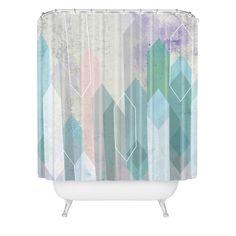 Emanuela Carratoni Raw Gems Shower Curtain | DENY Designs Home Accessories