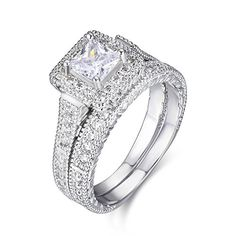 buy now   $39.99     (adsbygoogle = window.adsbygoogle || []).push();  This princess cut bridal set rings made with AAA cubic zirconia,2pc set suitable for wedding engagement promise or anniversady,nice gift for women, birthday or girls. it is stunning like real.   Specification...
