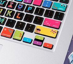 LoveDecalHome macbook keyboard decal colors Monsters Macbook Keyboard  stickers…
