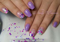 Cute Nail Art Ideas to Try - Nailschick Manicure, Shellac Nails, Purple Nail Art, Pink Nails, Great Nails, Perfect Nails, Confetti Nails, Short Nails Art, Hot Nails