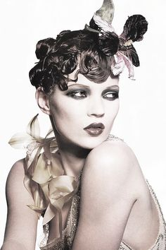 Vogue US, January 1995 ('Changing Faces'). Photographer: Irving Penn Model: Kate Moss. Makeup: Stephane Marais.