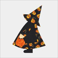 Sun Bonnet Sue Halloween Applique Pattern for Sewing Quilting Scrapbook Template