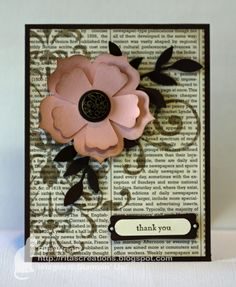 Book page and stenciled background - beautiful!