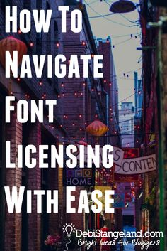 How To Navigate Font Licensing With Ease ★ Fonts, just like photographs, are the result of a creative person's hard work. Here's how to find out if you need to pay, where to pay, and how to navigate font licensing with ease.