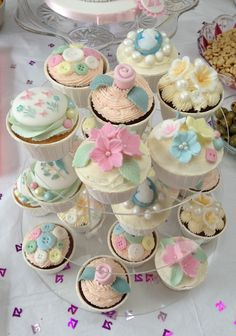 Cup cakes to match 21st birthday cake xx