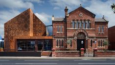 """Citizens Design Bureau has renovated and extended a heritage-listed synagogue to create a museum that """"tells the stories of Jewish Mancunians"""". Architecture Today, Museum Architecture, Manchester, Builders Merchants, Construction Contractors, Weathering Steel, Jewish Museum, City Farm, Small Buildings"""