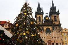 Christmas in Old Town Square Old Town Square, Prague, Czech Republic, Barcelona Cathedral, World, Christmas, Photography, Travel, Xmas
