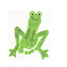 Frog with footprint.
