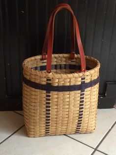 Tote it All Tote  basket library gift by BasketWeavingSupplies