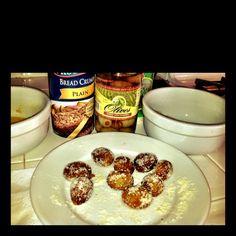 Breaded olives