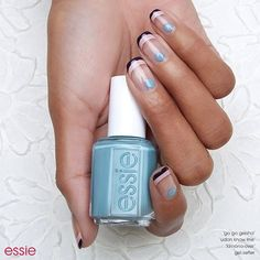 Doll up your manicure with this cute take on a classic elegant French mani nail art design. Recreate 'harajuku doll' using essie fall 2016. (Want more #nailart ideas? Visit essie.com/nailart)