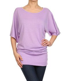Love this Lilac Dolman Tunic on #zulily! #zulilyfinds